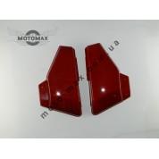 Пластик средних боковин Альфа красные (пара)