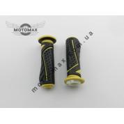 Ручки газа резиновые G черно-желтые (пара)