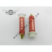 Ручки газа силиконовые Suzuki с отбойником, пара