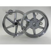 Диск Honda Dio Af-25/28/35 титановые, комплект передний+задний (серебристый)