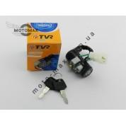 Замок зажигания (голый) Honda Dio-50, 5 проводов, TVR