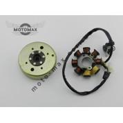 Катушка генератора с магнитом 4т GY6-50/60/80сс