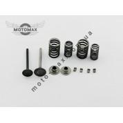 Клапана Дельта/ Альфа/Актив 70/100/ 110/125cc в сборе (пружины,тарелки,сухарики)