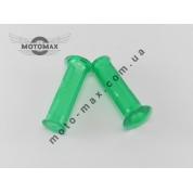 Ручки газа силиконовые KOSO (Тайвань) зеленые, пара
