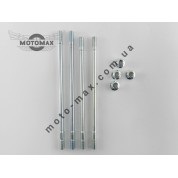 Шпильки цилиндра GY6-50/60/80cc (4шт + гайки)