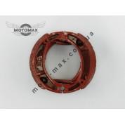 Колодки барабанного тормоза Honda Lead 50/90/Дельта/GY6-50/ 60/80/Альфа/Актив (пружина косая)