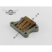 Лепестковый клапан Honda Dio AF-18/25/27 /28/FIT/Tact AF-24/30/ 31/Lead AF-20/05 Алюминиевый (резиновая пастель)