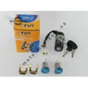 Замок зажигания TB-50/Honda Lead 90cc/ AF-20/Dio-18/Tact, 4 провода, TVR (комплект)