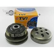Вариатор задний (сцепление) GY6 125/150сс 152QMI, 157QMJ (в сборе с чашкой) TVR