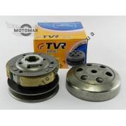 Вариатор задний (сцепление) Honda Dio 18/25/27/28/Tact 30 (в сборе с чашкой) TVR