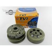 Вариатор задний (сцепление) Yamaha 2JA/3KJ/4JP/5BM 50сс (2 колодки) в сборе с чашкой TVR