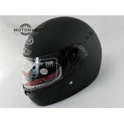 Шлем с подбородком (с воротником) черный матовый