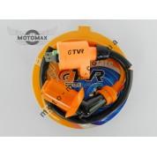 Катушка зажигания Honda Dio/4т 50-150сс (оранжевая с оранжевым 4т насвечником) TVR
