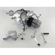 Двигатель Дельта/Альфа/Актив 110cc, механика (выбито 49cc) Серебристый