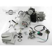 Двигатель Дельта/Альфа/Актив 110cc, автомат +карбюратор+комм+катушка