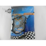 Прокладки двигателя Honda Dio AF-18/27/28 /Tact AF-24/30/31/51, 50cc, ø-39 мм, (комплект с резинкой картера)