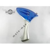 Пластик передней боковины, Grand Prix, QT-6,  хоккеист / BOY-125 , правая синяя