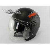 Шлем JF без подбородка черный матовый