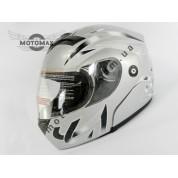 Шлем трансформер №103, серебристый
