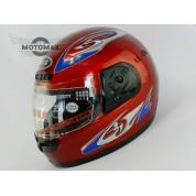 Шлем с подбородком CN-JM (с воротником) красный