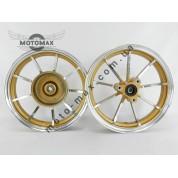 Диски Yamaha 2,15-10 титановые передний+ задний (золото)