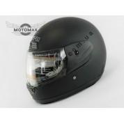 Шлем с подбородком WEIPU (с воротником) черный матовый №826