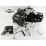 Двигатель Дельта/Альфа/Актив 110cc, механика (выбито 49cc) Черный