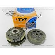 Вариатор задний (сцепление) Yamaha 90cc/2т Stels (3 колодки 15 шлицов) в сборе с чашкой TVR