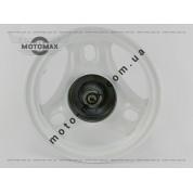 Диск передний Honda Dio/Tact барабанный тормоз (с подшипниками и сальником) TVR
