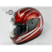Шлем с подбородком WEIPU (IBK) с воротником красный глянцевый №826/829