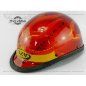 Шлем подростковый открытый (каска) красный