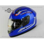 Шлем подростковый F-2 синий с рисунком
