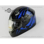 Шлем подростковый F-2 черно-синий