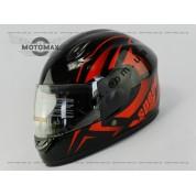 Шлем подростковый F-2 черно-красный