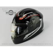 Шлем подростковый F-2 черно-серебристый