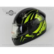 Шлем подростковый F-2 черно-лаймовый