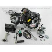Двигатель Дельта/Альфа/Актив 125cc механика (черный) +Карбюратор+комм+катушка