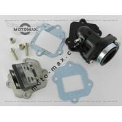 Коллектор впускной в сборе + лепестковый клапан Yamaha 5BM/SA-01/04/08/12/16 ТЮНИНГ