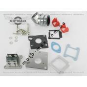Коллектор впускной в сборе + лепестковый клапан Honda ZX AF-34/35 ТЮНИНГ ( 4 болта )