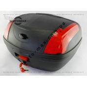 Кофр черный матовый на 2 шлема TSE (УСИЛЕННЫЙ)