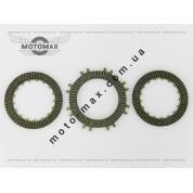 Диски сцепления Актив/Альфа 110cc ( Три диска ) TVR
