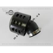 Фильтр нулевик ø-35мм, с колпаком косой (черный)