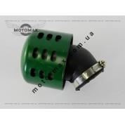Фильтр нулевик ø-35мм, с колпаком косой (зеленый)