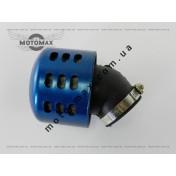 Фильтр нулевик ø-35мм, с колпаком косой (синий)