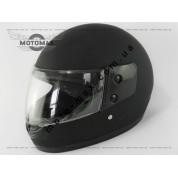 Шлем SAFE с подбородком, черный матовый