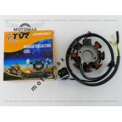 Катушка генератора 4т 125/150сс (GY6-150) 7+1 катушка TVR