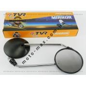 Зеркала Дельта черные круглые, резьба М8 TVR